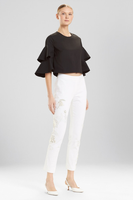 Buy Josie Natori Denim Ankle Pants With Embroidery from