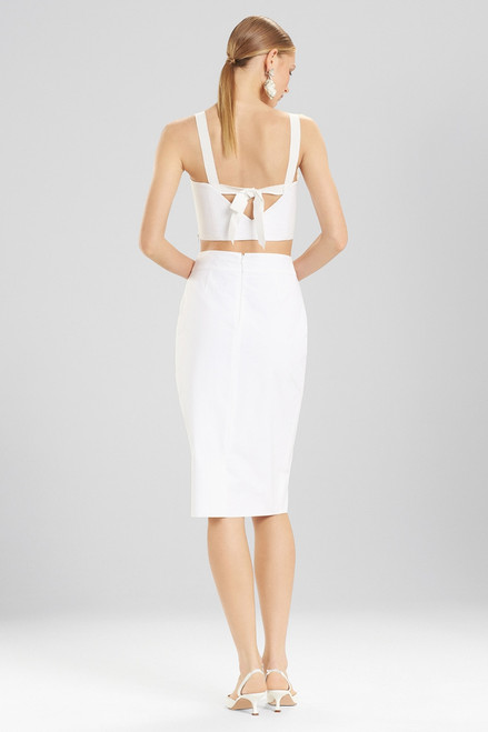 Josie Natori Cotton Poplin Pencil Skirt at The Natori Company