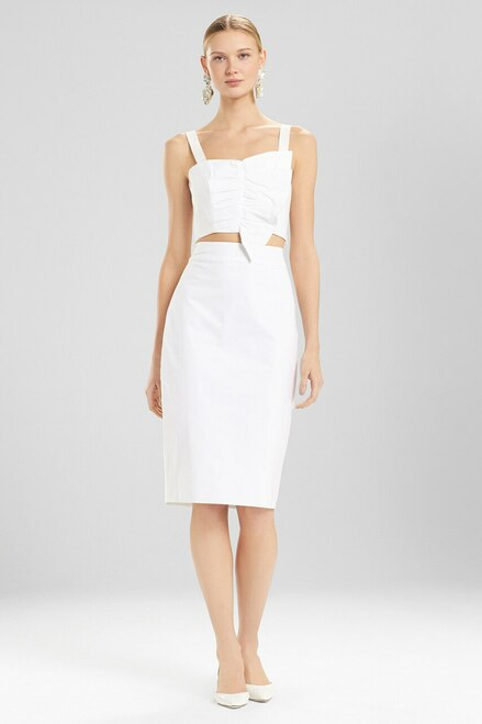Buy Josie Natori Cotton Poplin Pencil Skirt from
