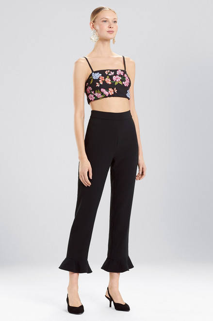 Buy Josie Natori Core Crepe Cropped Ruffle Pants from