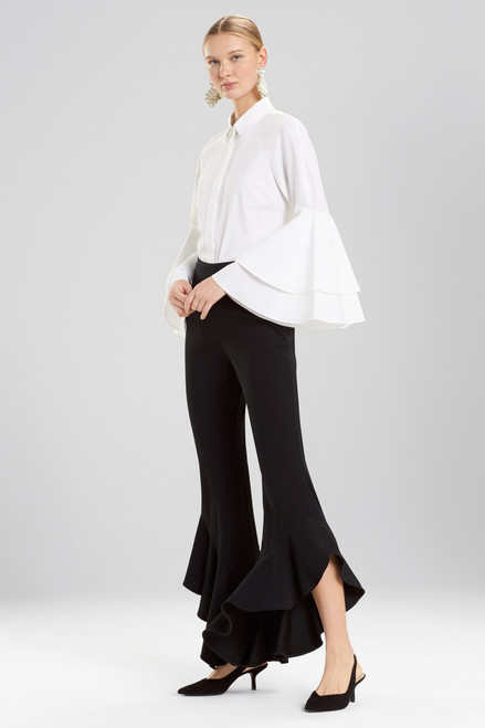 Buy Josie Natori Core Crepe Ruffle Pants from