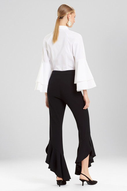 Josie Natori Core Crepe Ruffle Pants at The Natori Company