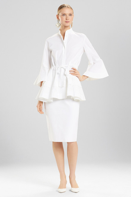 Josie Natori Cotton Poplin Lantern Top at The Natori Company