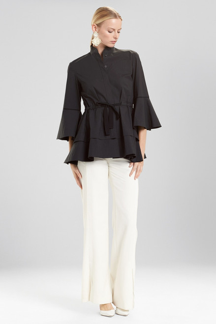 Buy Josie Natori Cotton Poplin Lantern Top from