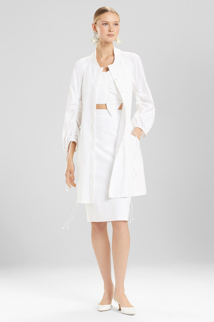 Josie Natori Cotton Poplin Jacket With Ties