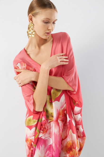 Josie Natori Paradis Short Caftan at The Natori Company