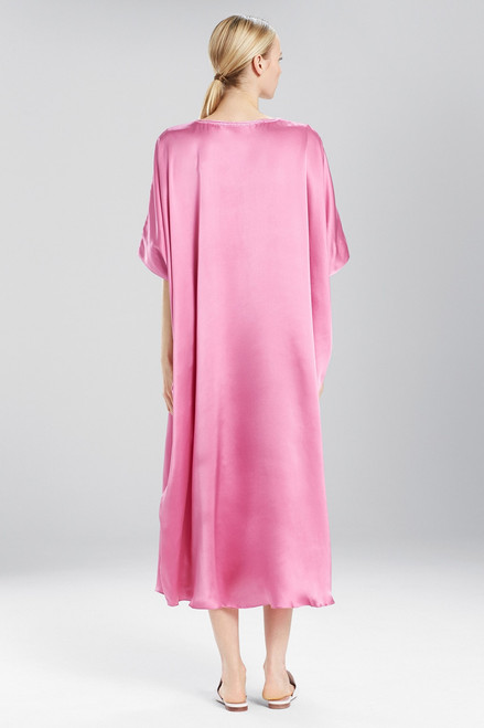 Josie Natori Key Essentials Caftan With Novelty Trim at The Natori Company