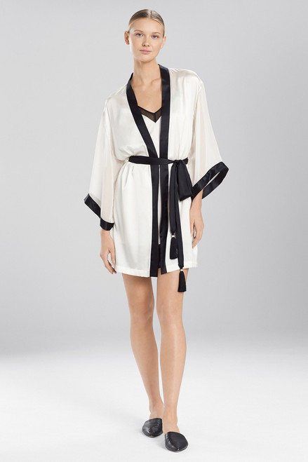 Josie Natori Sleek Wrap With Chiffon at The Natori Company