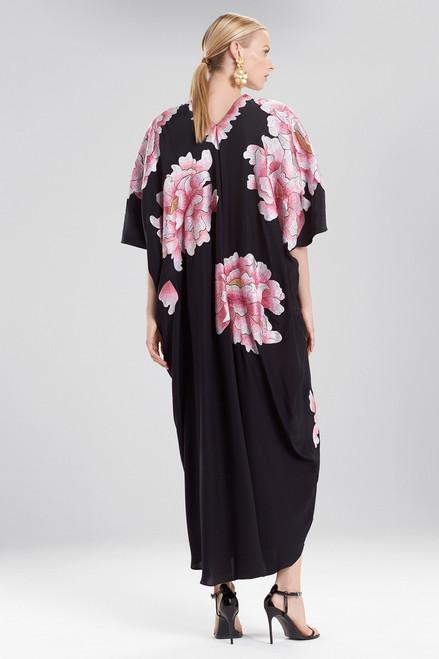 Josie Natori Couture Dazzling Peony Caftan at The Natori Company