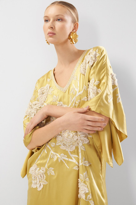 Josie Natori Couture Peony Passion Caftan at The Natori Company