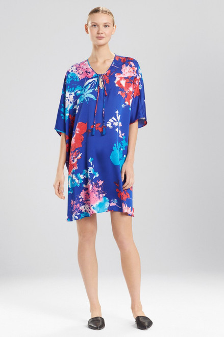 Natori Fiji Print Caftan With Tassels at The Natori Company