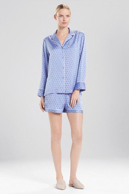 Buy Natori Honeycomb Feathers Satin Short PJ from
