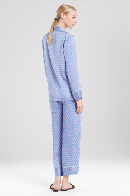 Natori Honeycomb Feathers Satin PJ at The Natori Company