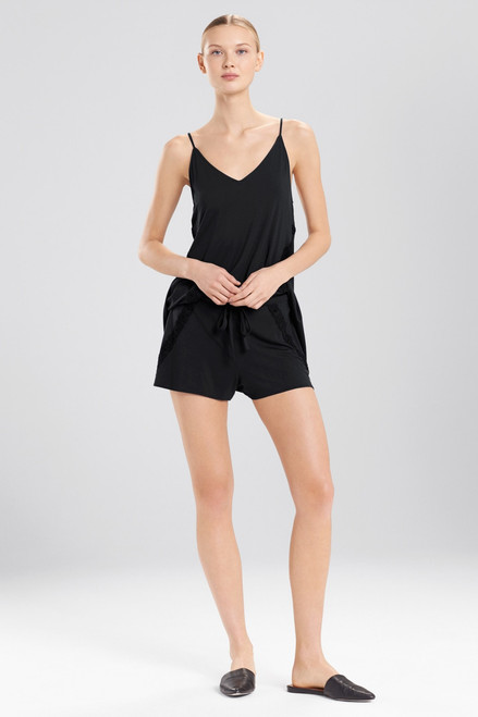 Natori Feathers Essentials Shorts With Lace Detail at The Natori Company