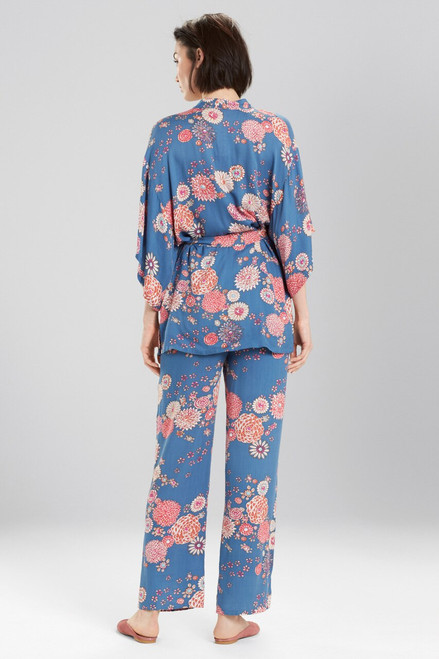 Josie Avant Garden Robe Blue Ivory at The Natori Company