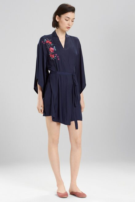 Buy Josie Bardot Satin Boho Embroidery Robe from