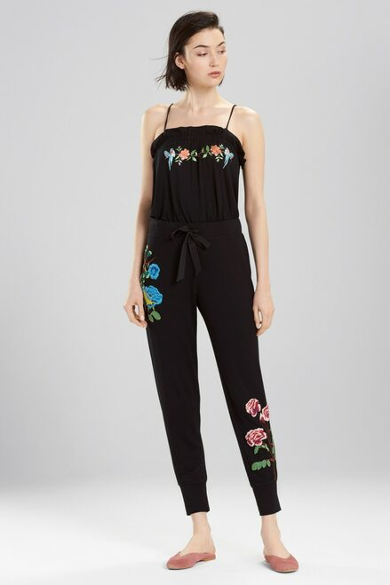 Josie Otherwear Embroidered Pants at The Natori Company