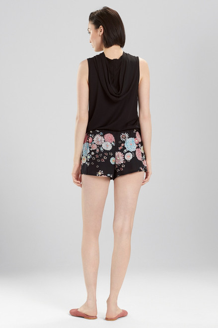 Josie Avant Garden Shorts Black Multi at The Natori Company