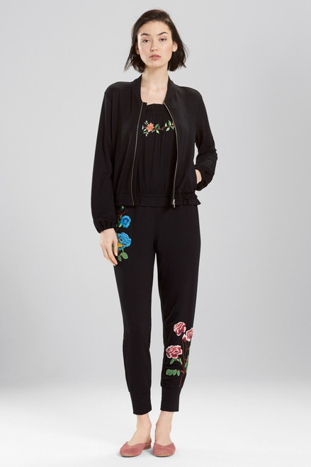 Josie Otherwear Embroidered Bomber at The Natori Company