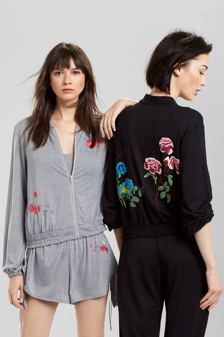 Josie Heathers Embroidered Jacket at The Natori Company