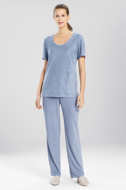 N Natori Terry Lounge Short Sleeve Top at The Natori Company