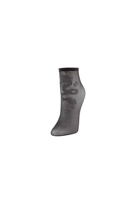 Natori Dragon Sheer Shortie Socks at The Natori Company