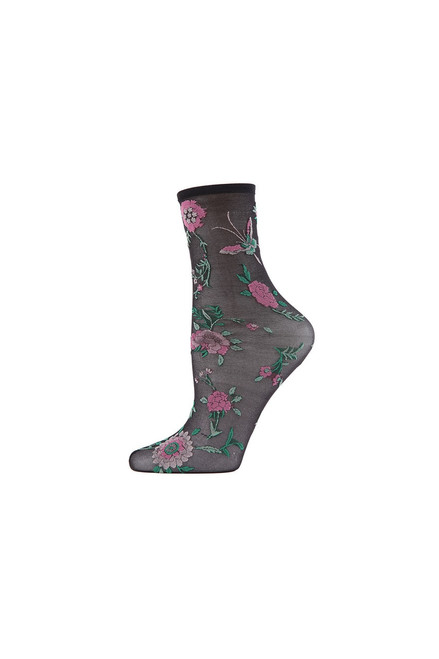 Buy Natori Mariposa Sheer Anklet Socks from