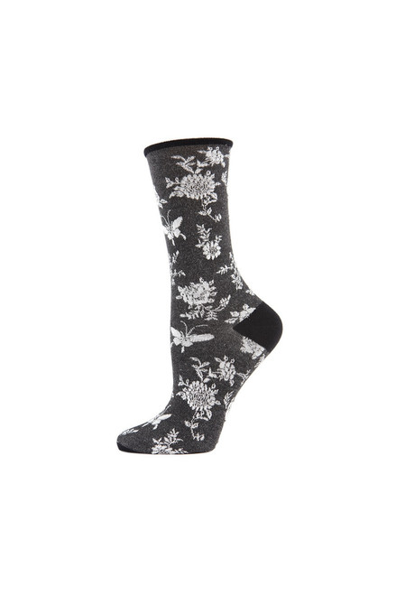 Natori Mariposa Fashion Crew Socks at The Natori Company