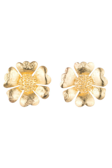Buy Josie Natori Gold Plated Brass Peony Earrings  from