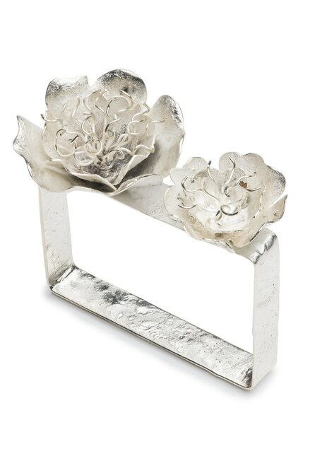Buy Josie Natori Silver Plated Brass Peony Bracelet from