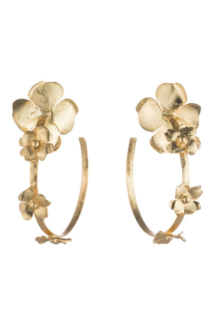 Buy Josie Natori Peony Hoop Earrings  from