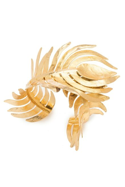 Buy Josie Natori Gold Plated Brass Peacock Cuff from