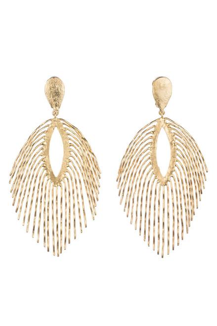 Buy Josie Natori 24K Gold Plated Brass Fringe Earrings from