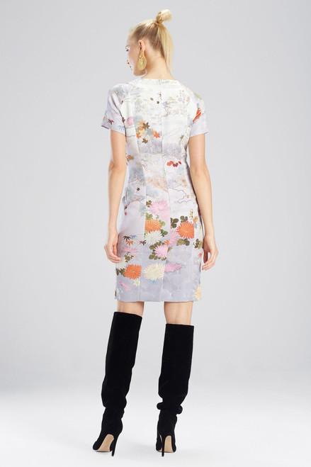 Josie Natori Japonais Jacquard Dress at The Natori Company