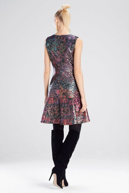 Josie Natori Bohemia Garden Jacquard Flare Dress at The Natori Company