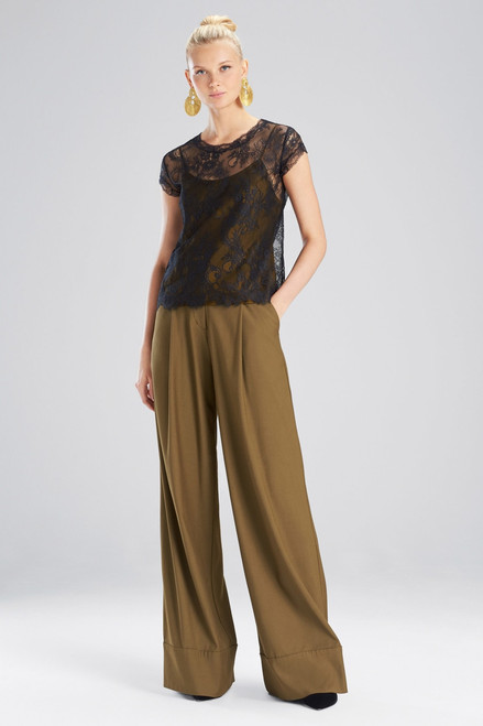 Buy Josie Natori Viscose Satin Top from