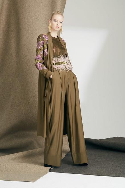 Josie Natori Primrose Silk Chiffon Tiered Sleeve Top at The Natori Company