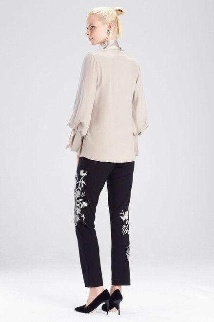 Josie Natori Silk Charmeuse Top at The Natori Company