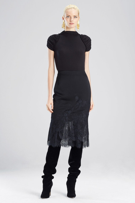 Buy Josie Natori Viscose Satin Skirt from