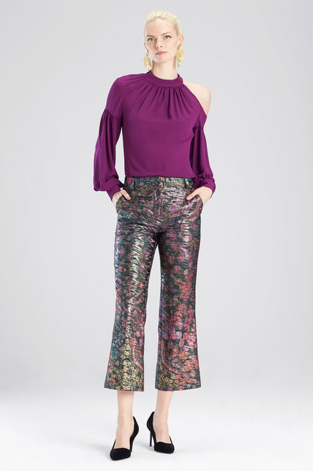 Josie Natori Bohemia Garden Jacquard Pants at The Natori Company