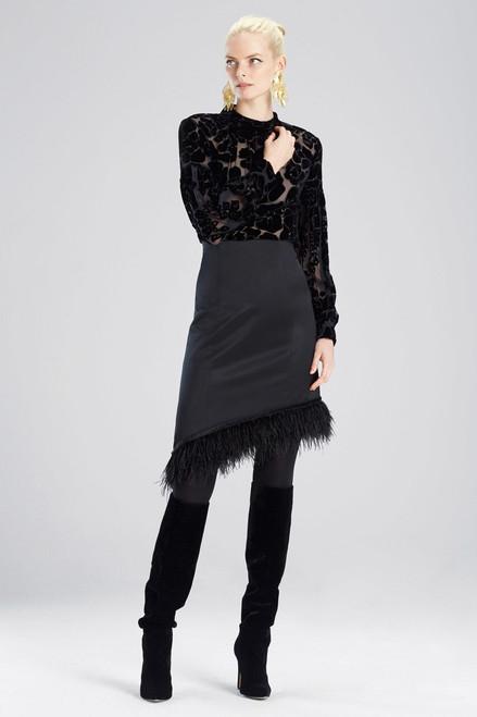 Buy Josie Natori Tuxedo Satin Skirt from