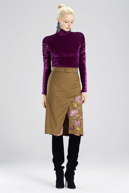 Buy Josie Natori Stretch Twill Skirt from