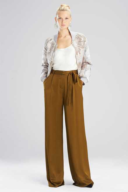Buy Josie Natori Viscose Satin Pants from