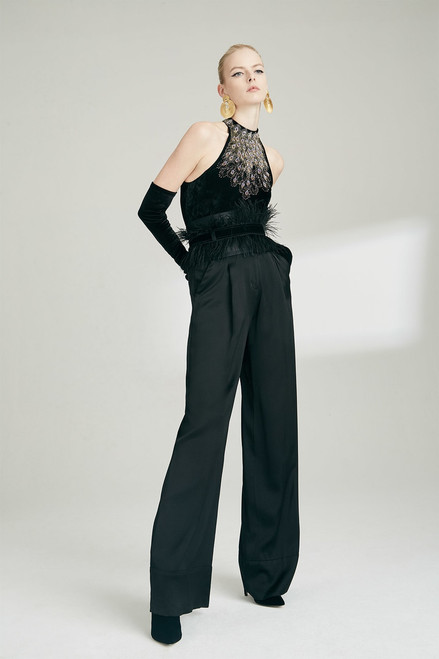 Josie Natori Viscose Satin Pants at The Natori Company