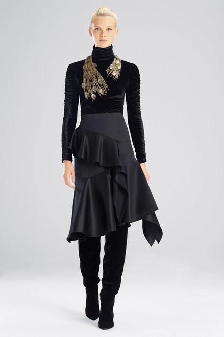 Buy Josie Natori Tuxedo Satin Ruffle Skirt from
