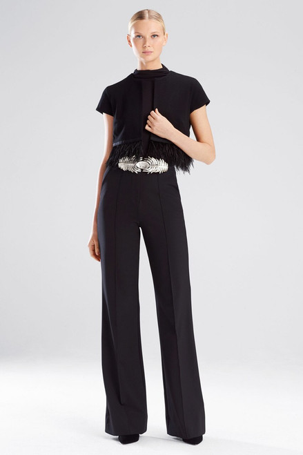 Buy Josie Natori Knit Crepe Bolero With Feathers from