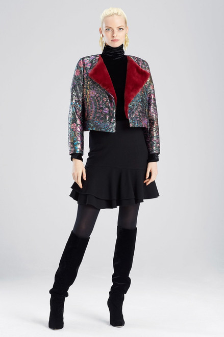 Buy Josie Natori Bohemia Garden Jacquard Cropped Jacket from