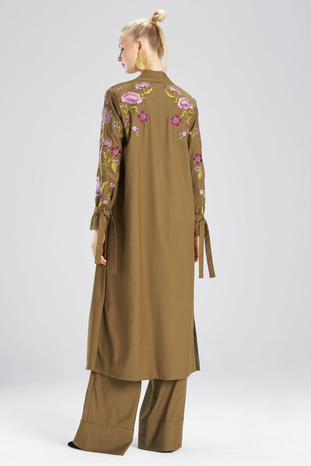 Josie Natori Stretch Twill Jacket at The Natori Company