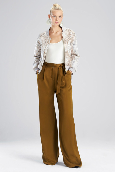 Buy Josie Natori Wintertide Jacquard Bomber Jacket from
