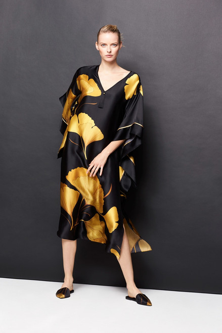 Josie Natori Ginkgo Caftan at The Natori Company
